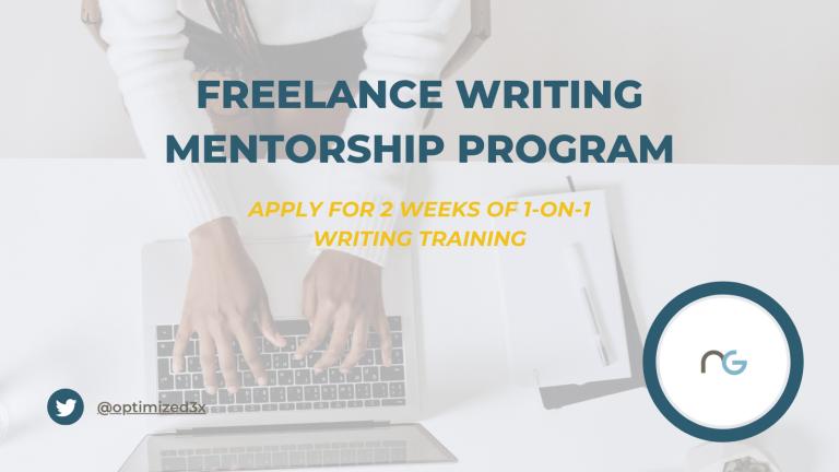 Freelance Writing Mentorship Program Offer